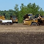 Picture of excavation equipment in a field